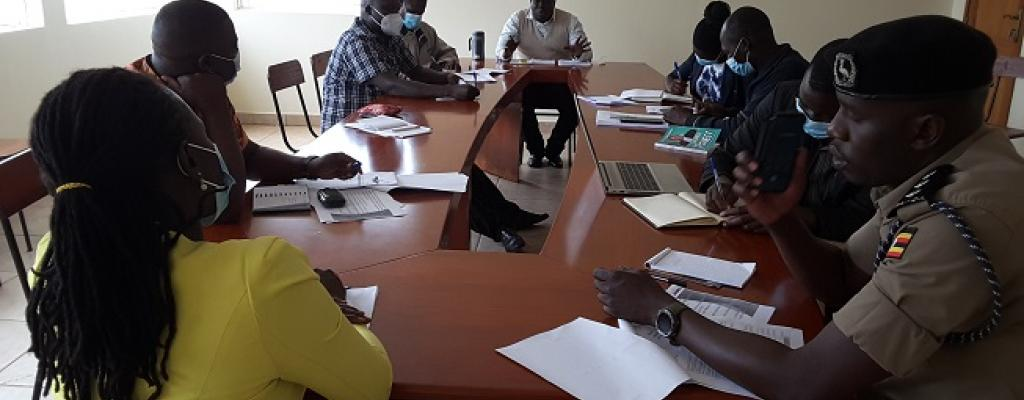 RDC closing the leave no one behind project inception meeting organised by CARITAS at his boardroom on Wednesday