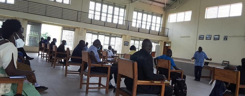 Councillors V and III attend induction training at the district Multipurpose Hall